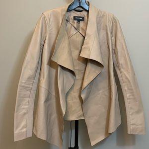 Mackage cream leather jacket
